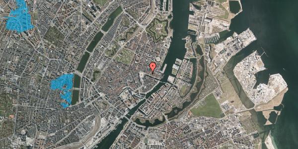 Oversvømmelsesrisiko fra vandløb på Nyhavn 17, kl. th, 1051 København K