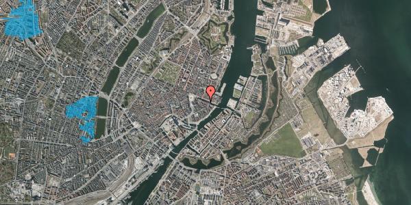 Oversvømmelsesrisiko fra vandløb på Nyhavn 18, kl. , 1051 København K