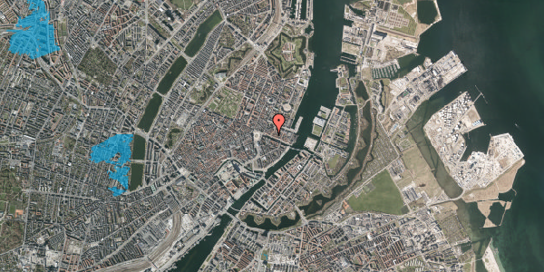 Oversvømmelsesrisiko fra vandløb på Nyhavn 21, 3. th, 1051 København K