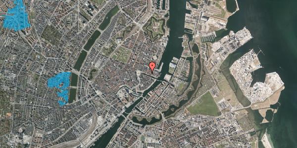 Oversvømmelsesrisiko fra vandløb på Nyhavn 33, st. , 1051 København K