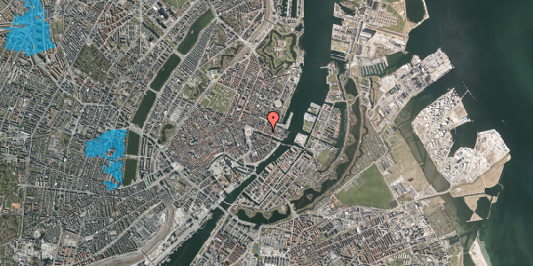Oversvømmelsesrisiko fra vandløb på Nyhavn 33, 2. , 1051 København K