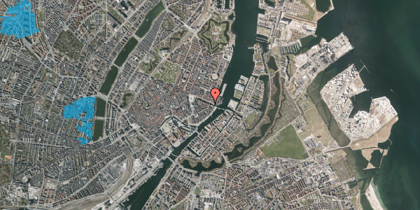 Oversvømmelsesrisiko fra vandløb på Nyhavn 38, 3. th, 1051 København K