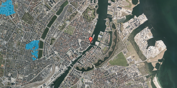 Oversvømmelsesrisiko fra vandløb på Nyhavn 42B, 2. th, 1051 København K