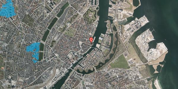 Oversvømmelsesrisiko fra vandløb på Nyhavn 53, kl. , 1051 København K