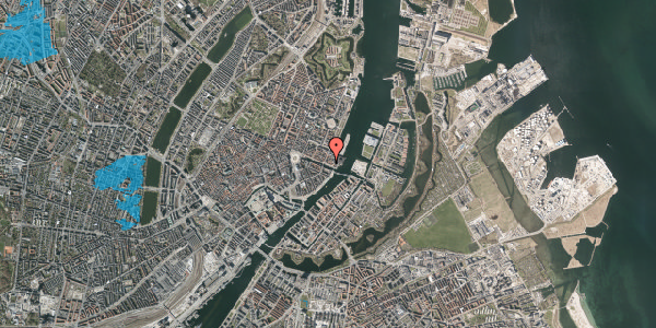 Oversvømmelsesrisiko fra vandløb på Nyhavn 59, st. , 1051 København K