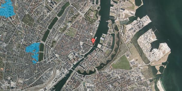 Oversvømmelsesrisiko fra vandløb på Nyhavn 65, 1. , 1051 København K