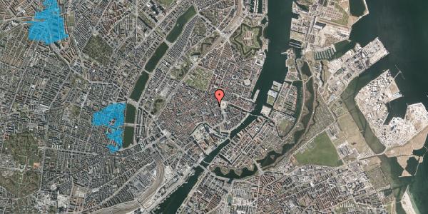 Oversvømmelsesrisiko fra vandløb på Ny Østergade 3, 1. th, 1101 København K