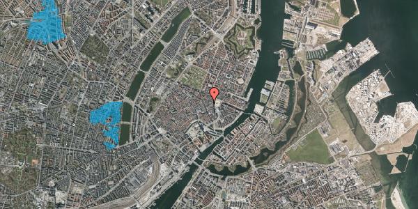 Oversvømmelsesrisiko fra vandløb på Ny Østergade 4, st. , 1101 København K