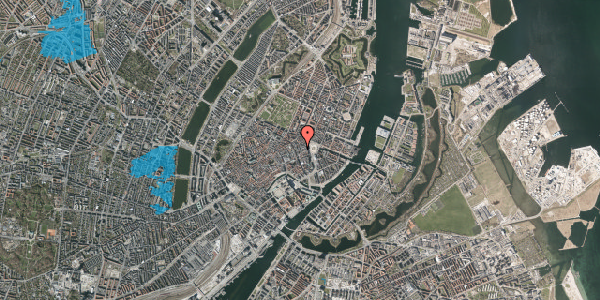 Oversvømmelsesrisiko fra vandløb på Ny Østergade 5, 1. , 1101 København K