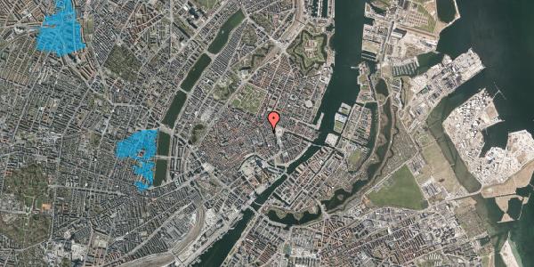 Oversvømmelsesrisiko fra vandløb på Ny Østergade 5, 2. th, 1101 København K