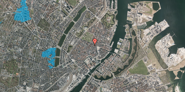 Oversvømmelsesrisiko fra vandløb på Ny Østergade 15, 3. , 1101 København K