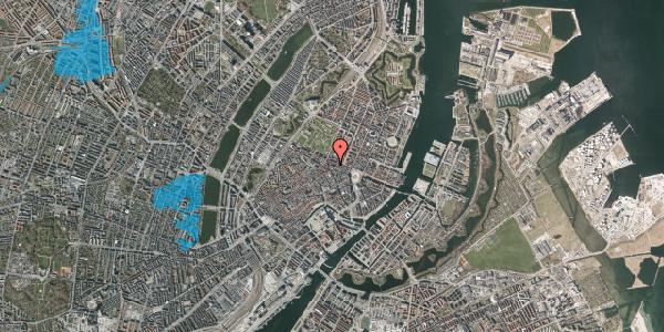 Oversvømmelsesrisiko fra vandløb på Ny Østergade 23, 4. th, 1101 København K