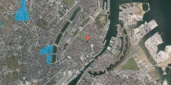 Oversvømmelsesrisiko fra vandløb på Ny Østergade 34, 1. th, 1101 København K