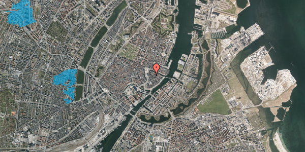 Oversvømmelsesrisiko fra vandløb på Peder Skrams Gade 1, st. tv, 1054 København K