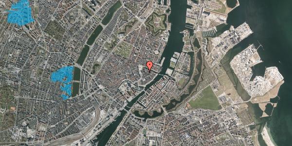 Oversvømmelsesrisiko fra vandløb på Peder Skrams Gade 1, 1. mf, 1054 København K