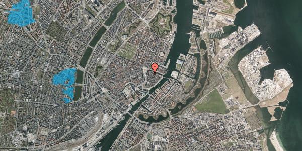 Oversvømmelsesrisiko fra vandløb på Peder Skrams Gade 1, 1. th, 1054 København K