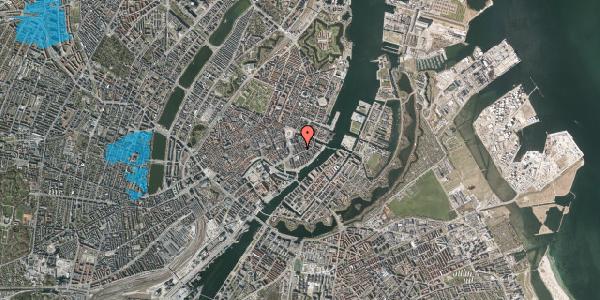 Oversvømmelsesrisiko fra vandløb på Peder Skrams Gade 10A, 1. , 1054 København K