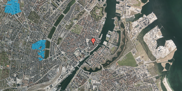 Oversvømmelsesrisiko fra vandløb på Peder Skrams Gade 10, 1. tv, 1054 København K
