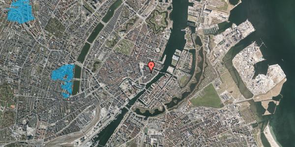 Oversvømmelsesrisiko fra vandløb på Peder Skrams Gade 10, 3. tv, 1054 København K