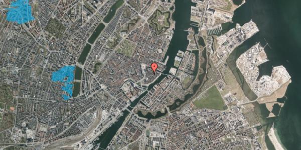 Oversvømmelsesrisiko fra vandløb på Peder Skrams Gade 11, 2. th, 1054 København K