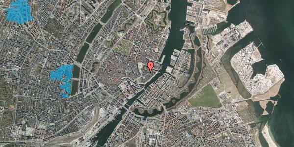 Oversvømmelsesrisiko fra vandløb på Peder Skrams Gade 11, 4. th, 1054 København K