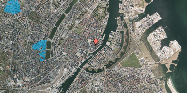 Oversvømmelsesrisiko fra vandløb på Peder Skrams Gade 12, 2. th, 1054 København K