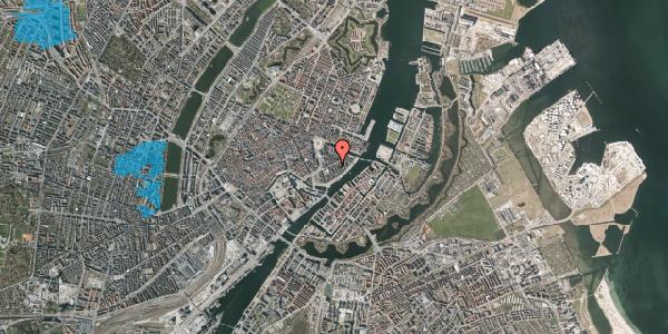 Oversvømmelsesrisiko fra vandløb på Peder Skrams Gade 14, 1. tv, 1054 København K