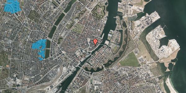 Oversvømmelsesrisiko fra vandløb på Peder Skrams Gade 14, 2. th, 1054 København K