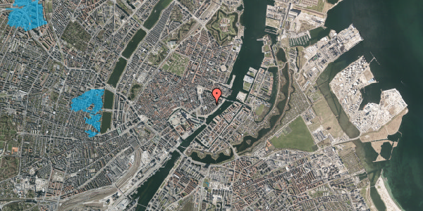 Oversvømmelsesrisiko fra vandløb på Peder Skrams Gade 15, kl. , 1054 København K