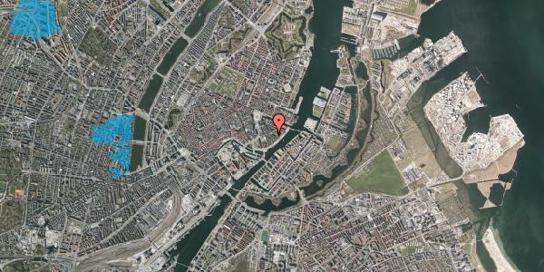 Oversvømmelsesrisiko fra vandløb på Peder Skrams Gade 15, 2. , 1054 København K