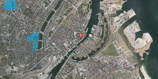 Oversvømmelsesrisiko fra vandløb på Peder Skrams Gade 16B, kl. , 1054 København K