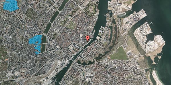 Oversvømmelsesrisiko fra vandløb på Peder Skrams Gade 16C, 1. , 1054 København K