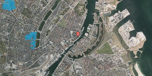 Oversvømmelsesrisiko fra vandløb på Peder Skrams Gade 17A, 4. tv, 1054 København K