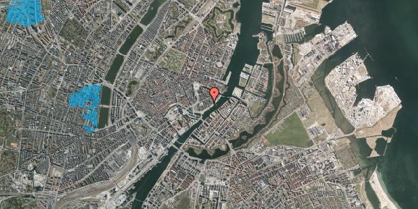 Oversvømmelsesrisiko fra vandløb på Peder Skrams Gade 23, 2. , 1054 København K