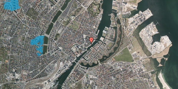 Oversvømmelsesrisiko fra vandløb på Peder Skrams Gade 26A, 4. , 1054 København K
