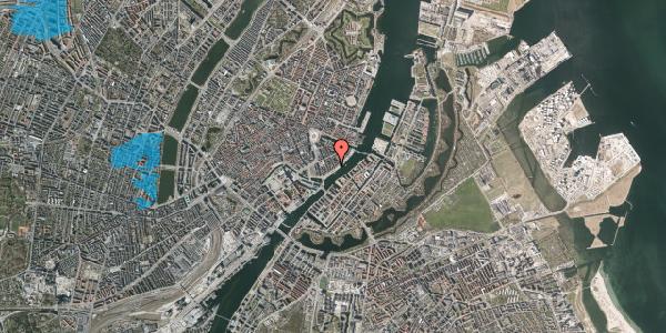 Oversvømmelsesrisiko fra vandløb på Peder Skrams Gade 26, 2. th, 1054 København K