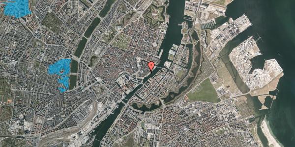 Oversvømmelsesrisiko fra vandløb på Peder Skrams Gade 27, kl. th, 1054 København K