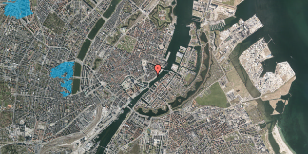 Oversvømmelsesrisiko fra vandløb på Peder Skrams Gade 27, kl. tv, 1054 København K