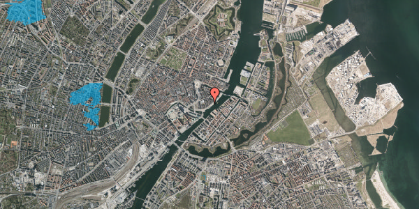 Oversvømmelsesrisiko fra vandløb på Peder Skrams Gade 28, 4. th, 1054 København K
