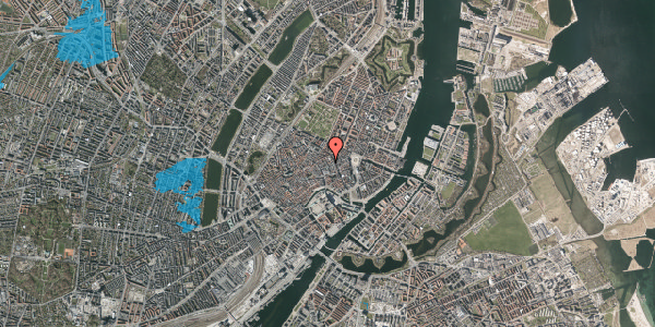 Oversvømmelsesrisiko fra vandløb på Pilestræde 21, 2. 3, 1112 København K