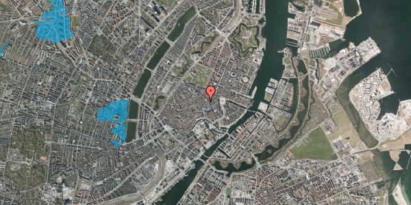 Oversvømmelsesrisiko fra vandløb på Pilestræde 28, st. , 1112 København K