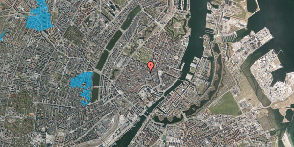 Oversvømmelsesrisiko fra vandløb på Pilestræde 29, 3. th, 1112 København K