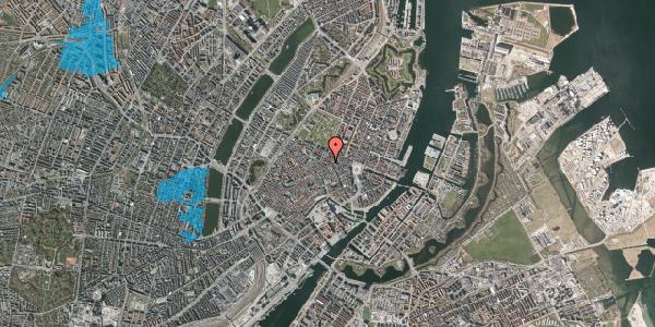 Oversvømmelsesrisiko fra vandløb på Pilestræde 40C, 1. tv, 1112 København K