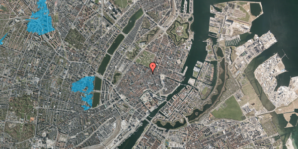Oversvømmelsesrisiko fra vandløb på Pilestræde 40C, 2. th, 1112 København K