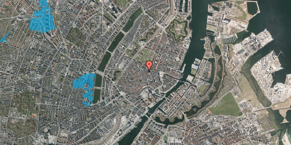 Oversvømmelsesrisiko fra vandløb på Pilestræde 45, 3. , 1112 København K