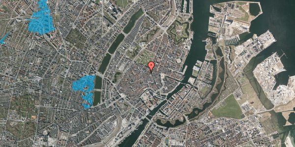 Oversvømmelsesrisiko fra vandløb på Pilestræde 52D, 2. th, 1112 København K