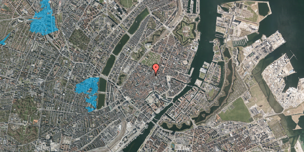 Oversvømmelsesrisiko fra vandløb på Pilestræde 52, 1. , 1112 København K