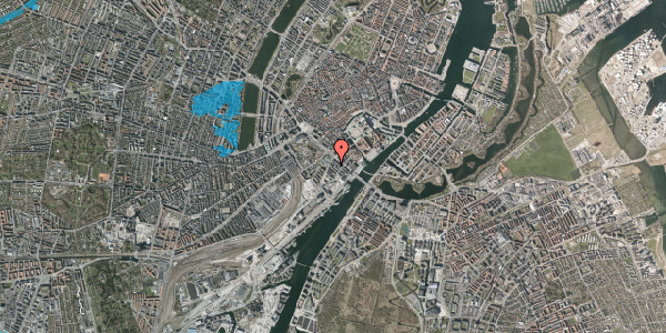 Oversvømmelsesrisiko fra vandløb på Puggaardsgade 4, 1. th, 1573 København V