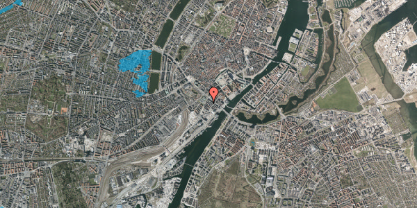 Oversvømmelsesrisiko fra vandløb på Puggaardsgade 6, kl. tv, 1573 København V