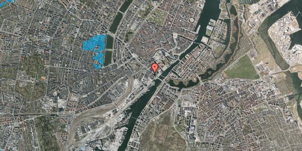 Oversvømmelsesrisiko fra vandløb på Puggaardsgade 13, 5. tv, 1573 København V